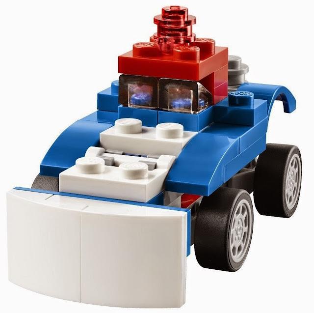 Tạo thêm nhiều kiểu lắp ráp mới lạ cho chiếc xe của mình với Lego Creator 31027 Xe đua xanh Blue Racer