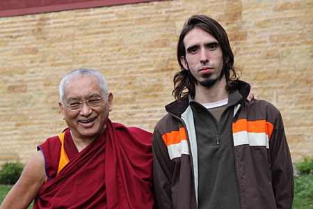 Lama Zopa Rinpoche and Osel in Madison, WI USA in Sep 2009