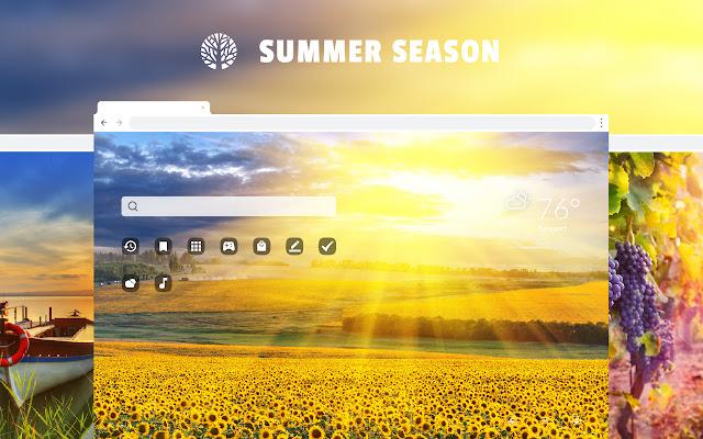 Summer Season HD Wallpaper New Tab Theme