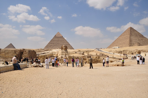 The Giza Pyramids and the Sphinx