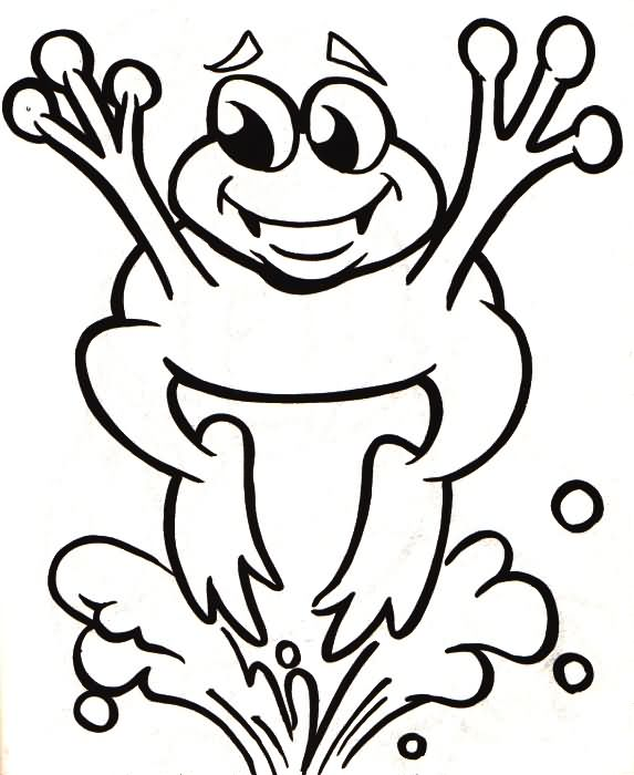 Jumping frog coloring pages