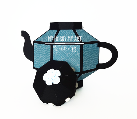 3D Teapot, Silhouette Cameo, Mo, SCrapandome, Ruthie Lopez