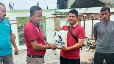 Bapedia Salurkan Bantuan Sembako untuk Korban Kebakaran di Alue Dama Abdya