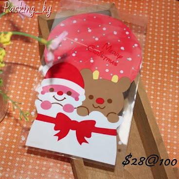 💕卡通聖誕老人鹿鹿包裝自粘袋
