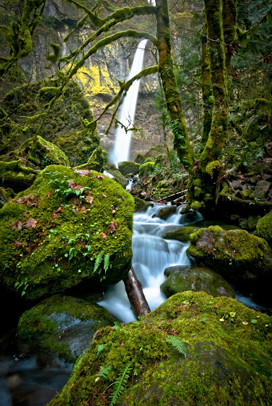 Columbia River Gorge -- wodospady Oregonu..