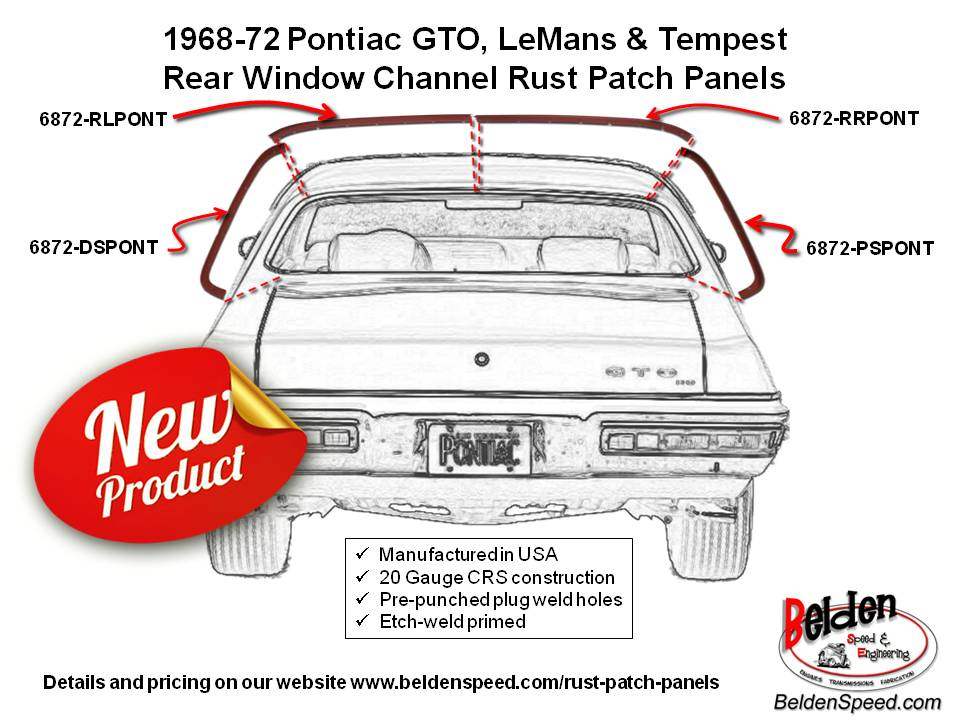 Rear window channel rust repair channels now available for 68-72