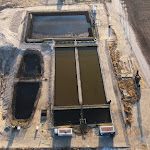 Aerial view of a demonstration site in Bakersfield, where our technology is cleaning oilfield water to drinking water levels.