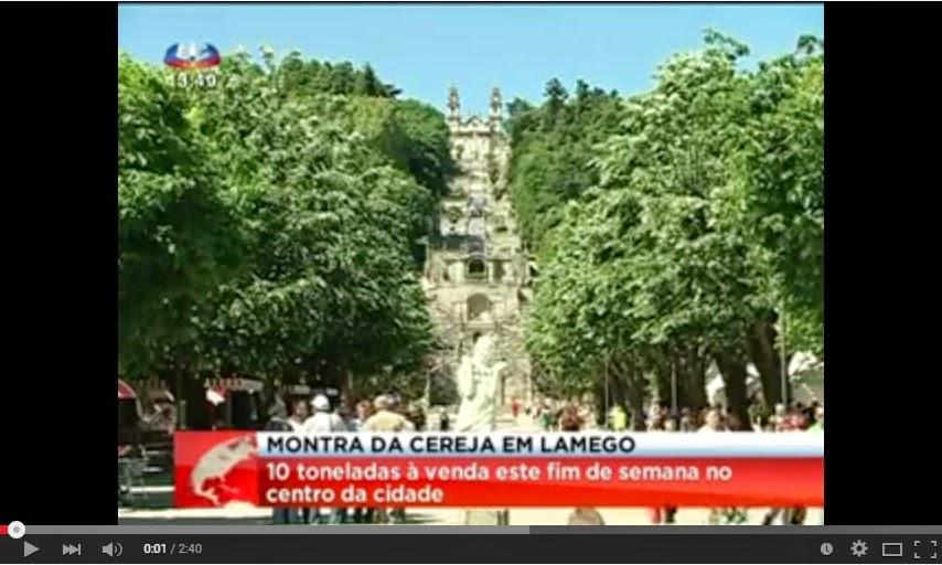 Reportagem SIC - Dez toneladas de cereja à venda no centro de Lamego