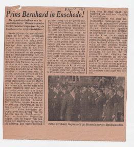 Prins Bernhard in Enschede - 8 april 1945 http://www.secondworldwar.nl/enschede/