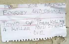 Suicide letter in Lagos