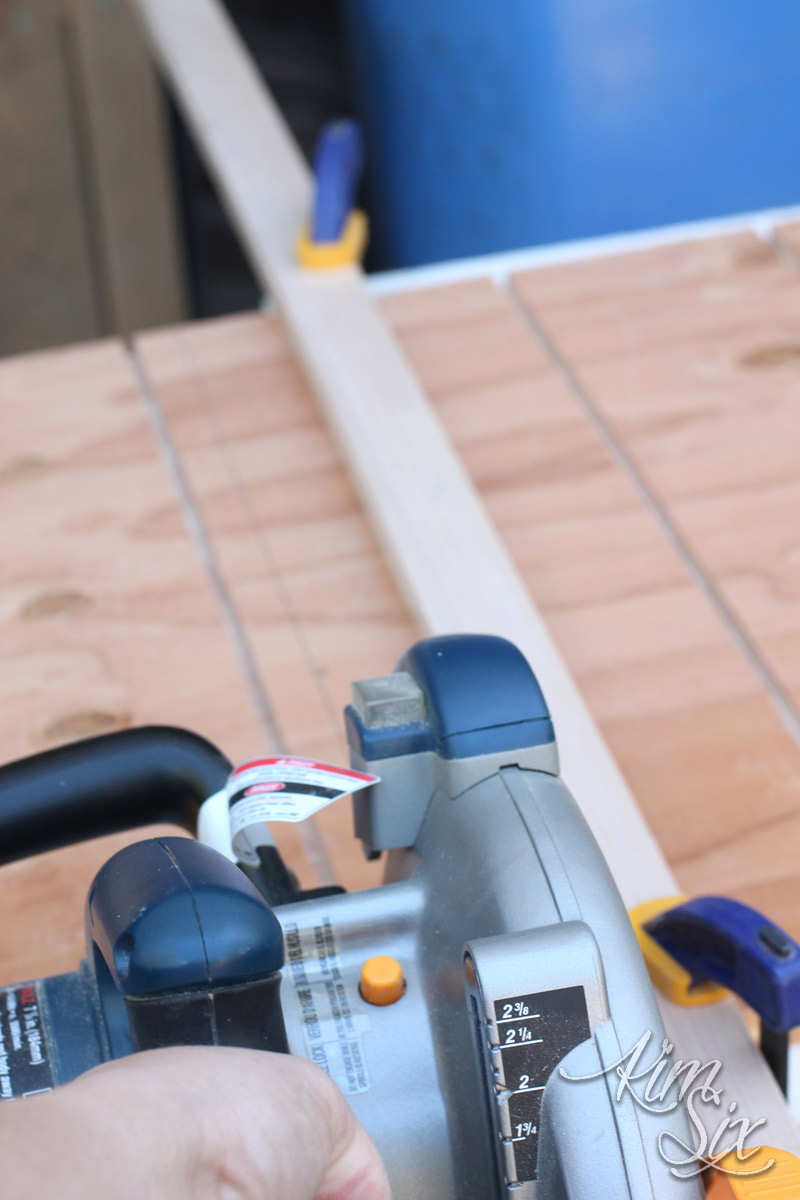 Cutting down plywood for shelf organizer