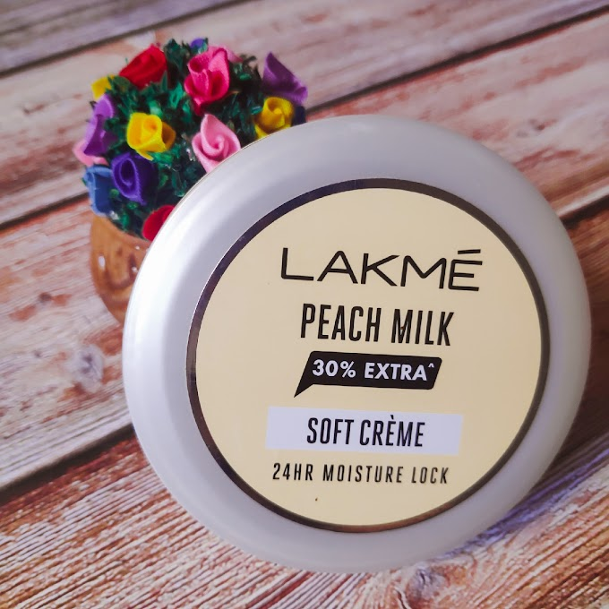 LAKME PEACH MILK SOFT CREAM REVIEW | BEST AFFORDABLE CREAM UNDER 100 | PEACHYPINKPRETTY