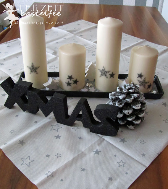 Stampin' Up! - Adventskranz, advent, december, Xmas, Weihnachten, Christmas, modern, Simply Stars