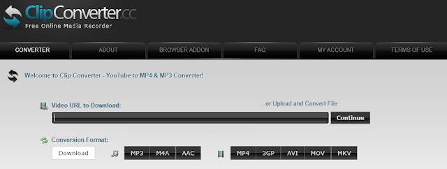 Download Video YouTube Tanpa Aplikasi menggunakan layanan dari situs clipconverter.cc