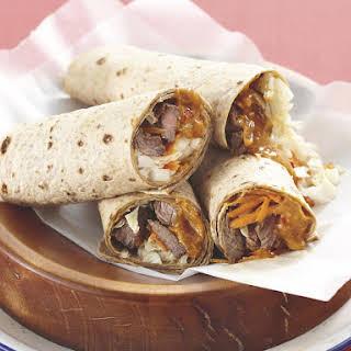 Beef Satay Wraps.