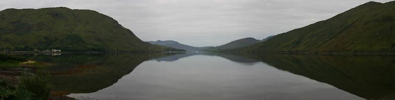 Killary Harbour reflection panorama
