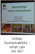 urban sustainability - what can we do