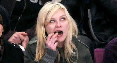Kirsten Dunst eating