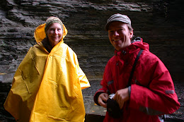 Mom and brother, Arlo, at Watkins Glen State Park.