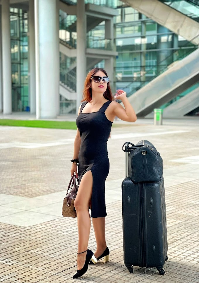 Neha Malik Spotted Airport During Here Russia Trips