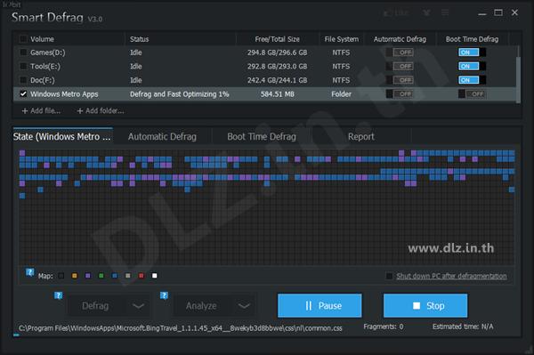 ดาวน์โหลด IObit Smart Defrag 5 โหลดโปรแกรม Smart Defrag ล่าสุดฟรี