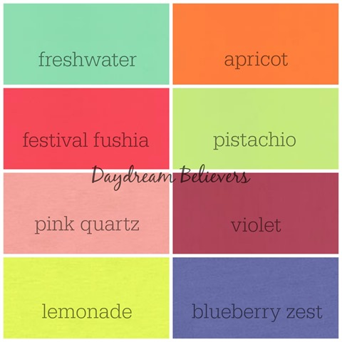 Summer Color Chart Daydream Believers Designs agsolids