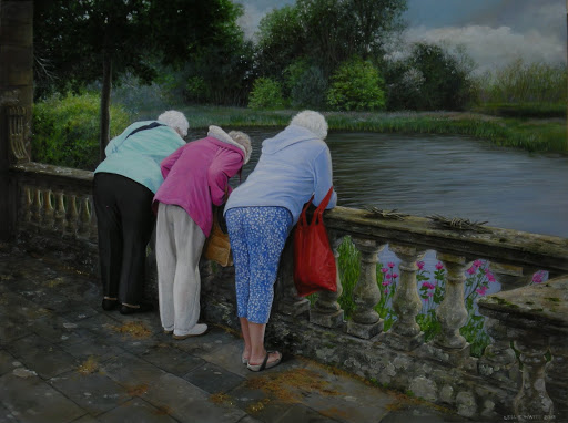 A Day at Hever Castle. Artist Leslie Watts