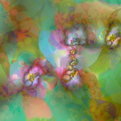 """The """"Fractal Blossoms"""" piece from the """"2014"""" collection"""