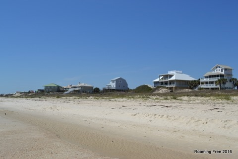 Houses on the beach