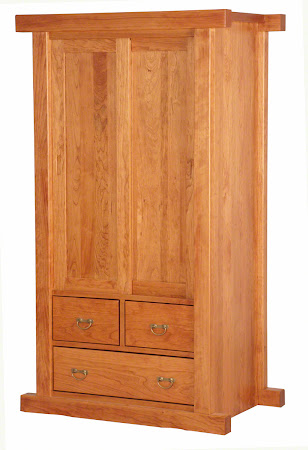 "Matching Furniture Piece: 70"" x 40"" Custom Tansu Armoire Dresser in Red Cherry"