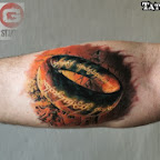 forearm fire - tattoos for men