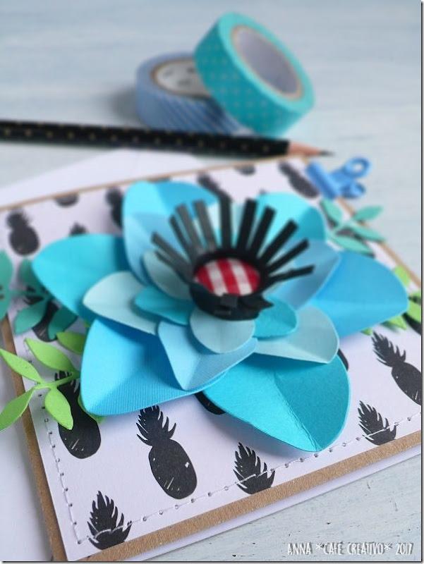 Usare Big Shot e Fustelle per creare una card con fiore