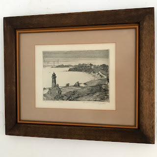 Leon Rene Pescheret Signed Etching