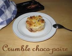 Recette du Crumble aux poires et pepites de chocolat