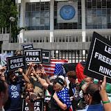 International Flotilla II protests at US Embassy in Athens