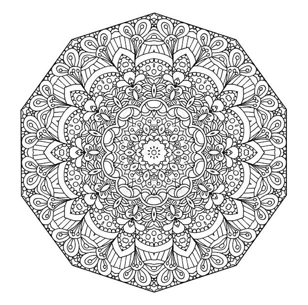 Printable Mandala Flower Coloring Pages Difficult With Abstract Coloring  Pages Difficult Abstract Free Printable