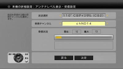 映らない状態のND-14のDT400でのアンテナレベル