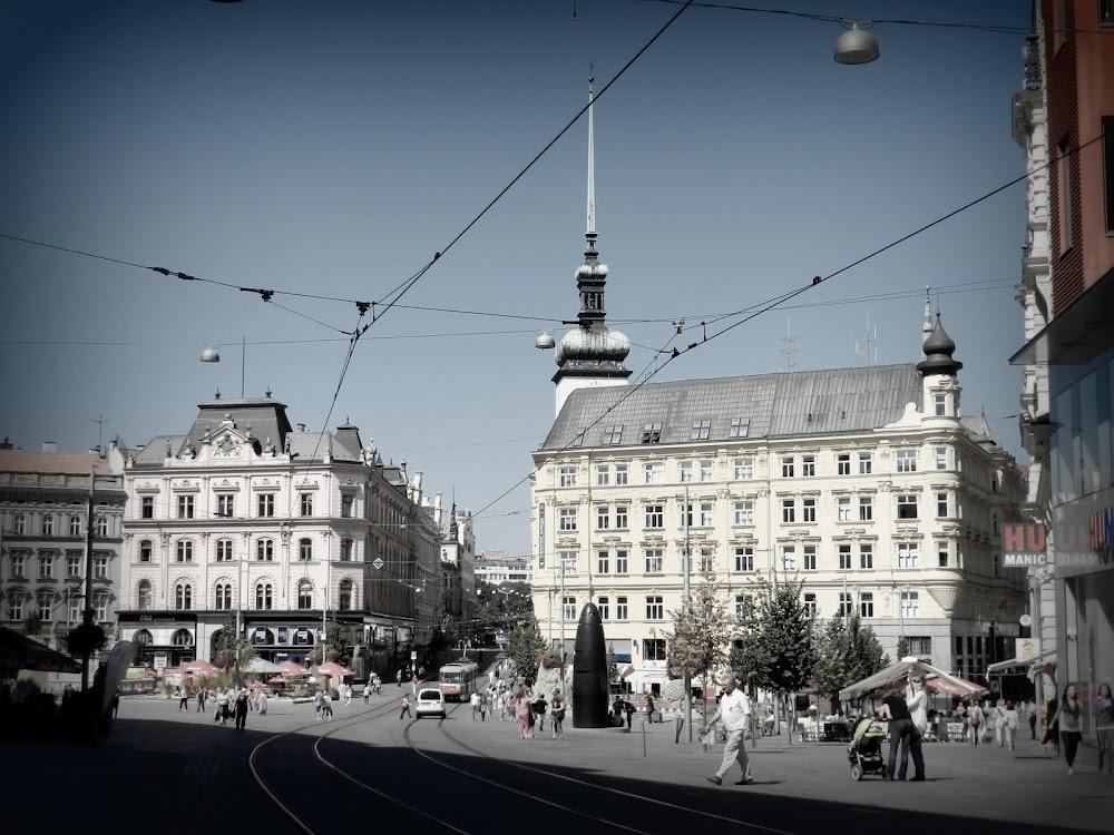 Brno's main plaza, the Namesti Svobody