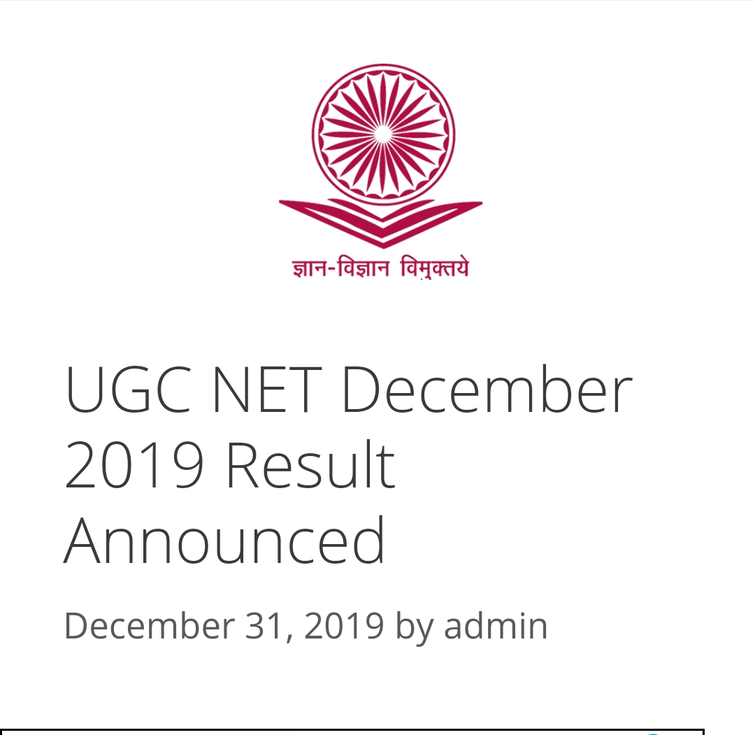 The results of the uGC .NET test are outstanding. Click on the link below to know your result