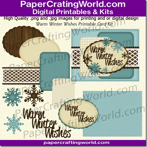 warm winter wishes card kit-650dpks