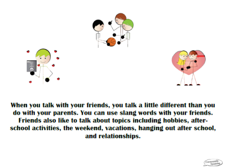 Appropriate Conversation Partners & Topics Social Skill Story