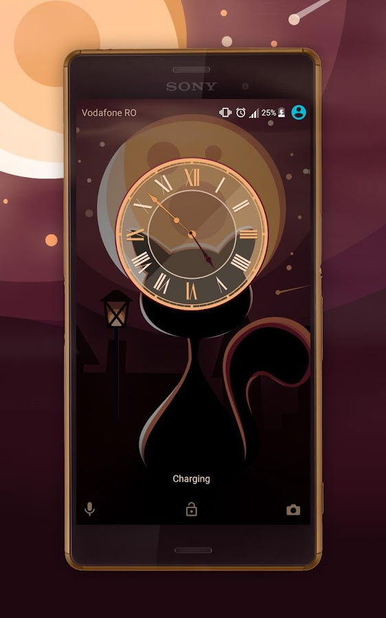 Moon Cat Xperia Theme- screenshot
