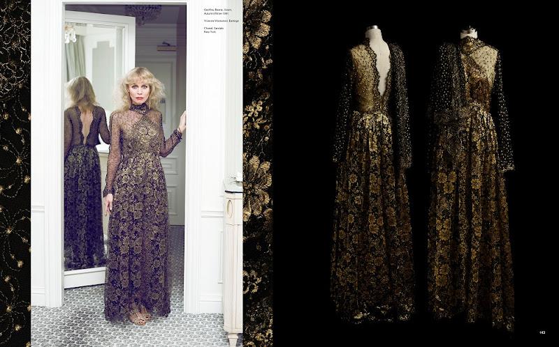 Geoffrey Beene, Gown, Autumn/Winter 1991. Vivienne Westwood, Earrings. Chanel, Sandals. New York  Electric Fashion © 2014 Frederic Aranda