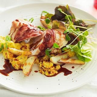Chicken And Prosciutto With Fresh Creamed Corn.
