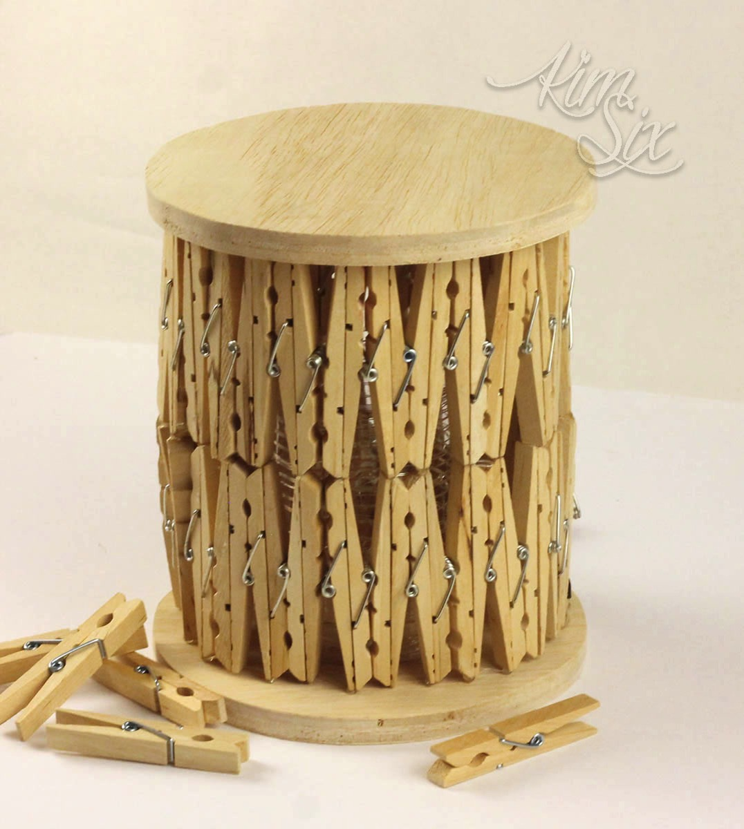 DIY wooden clothespin lantern