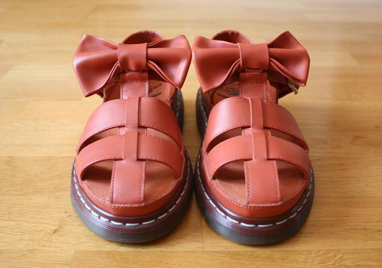 dr martens x agyness deyn bow sandals