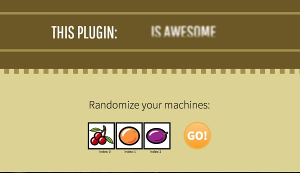 JQuery Slot Machine