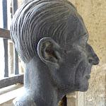 Cimetière : buste de Maurice Ravel par Jean-Miguel Merlet