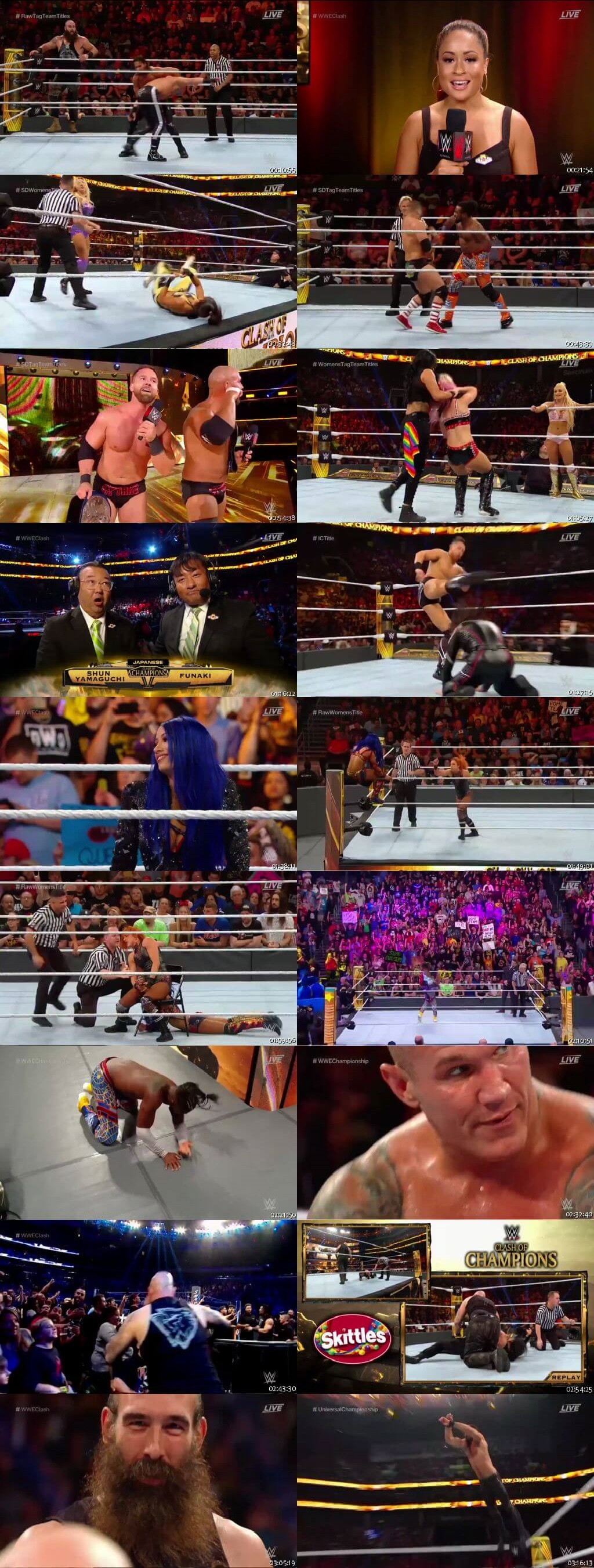 Screen Shot Of WWE Clash Of Champions 15th September 2019 HDTV 480P 300MB