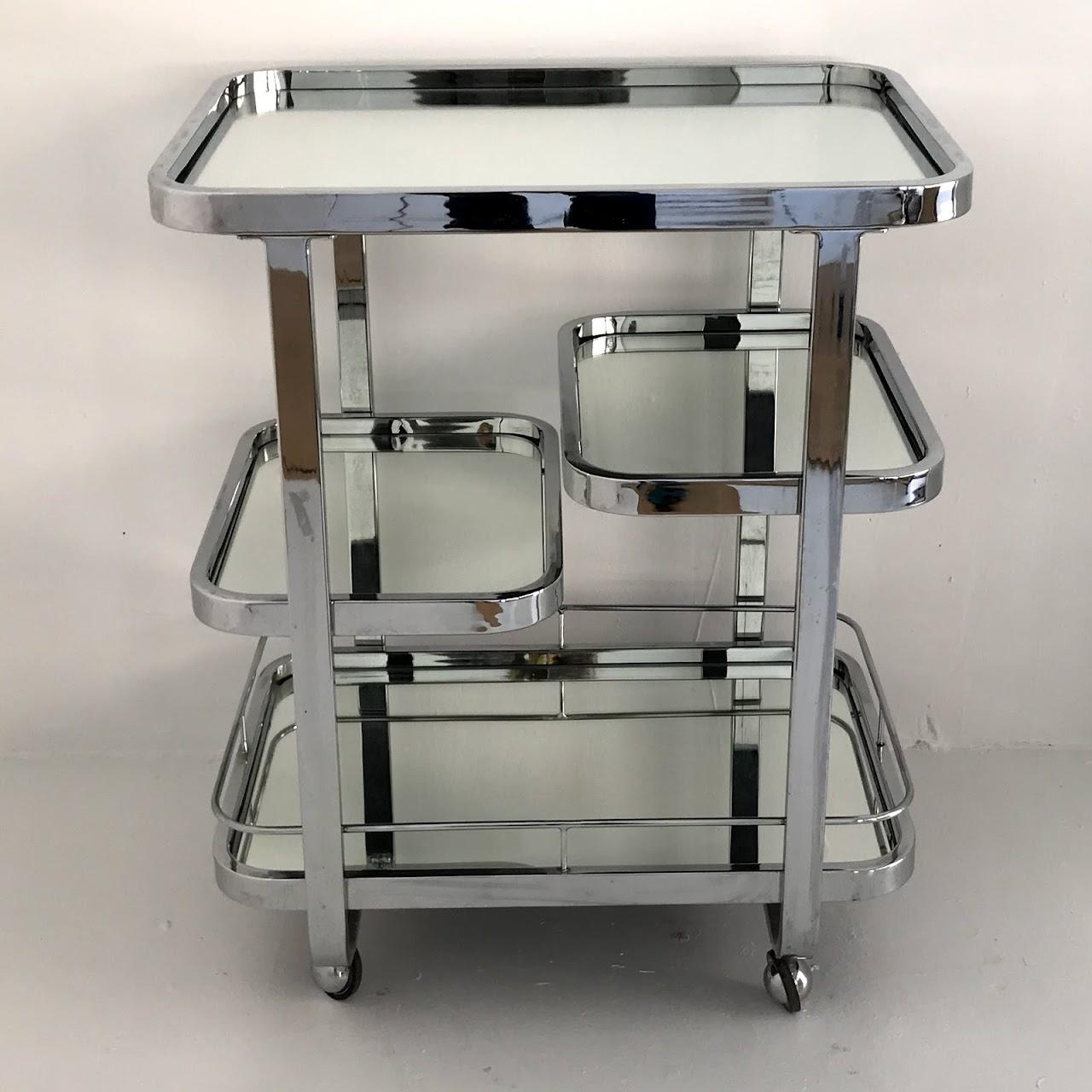 Chrome & Mirror Bar Cart